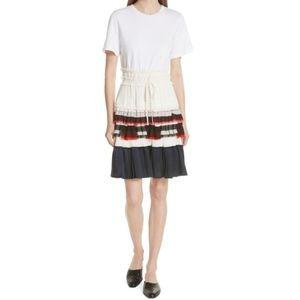 3.1 PHILLIP LIM Pleated Skirt T-Shirt Dress